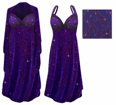 NEW! Purple With Hot Pink Glitter on Velvet Animal Stripes Slinky 2 Piece Plus Size SuperSize Princess Seam Dress Set 0x 1x 2x 3x 4x 5x 6x 7x 8x