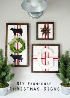 DIY+Farmhouse+Christmas+Signs