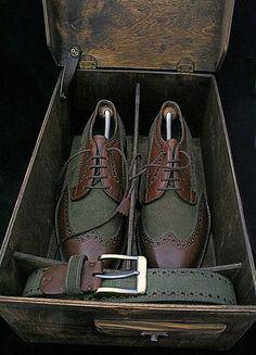 Manor Style | Tweed Tartan Leather. Igor Suhenko / Dandy shoes