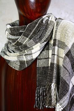 Warm Woven Wrap Wide Scarf Chenille by FitchStudioWeavers on Etsy, $160.00