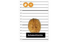 Tatort Speisekarte (H): Schalenfrüchte und daraus gewonnene Erzeugnisse Chart, Letters, Food Menu, Knowledge, Health, Foods, Letter, Calligraphy