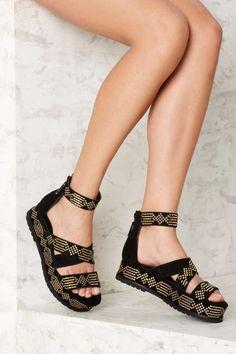 Kat Maconie Celeste Suede Sandal - Shoes