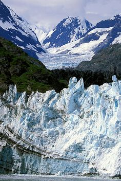 Professional stock photos of Margerie Glacier, Glacier Bay National Park in Alaska, Photos by Ron Niebrugge Parc National, Us National Parks, Places To Travel, Places To See, Glacier Bay National Park, Parque Natural, Vida Natural, Alaska Cruise, Places Around The World