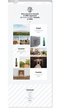 clean grid  Maria Rigol Ordi cellar website by Atipus, via Behance