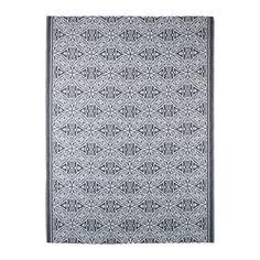 IKEA - SOMMAR 2016, Koberec, hladko tkaný, Koberec je odolný voči dažďu, slnku, snehu aj špine, takže sa vynikajúco hodí na vonkajšie použitie.Keď sa koberec zašpiní, môžete ho utrieť alebo opláchnuť vodou a následne zavesiť, aby sa vysušil.