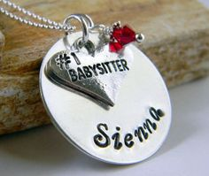 Personalized Babysitter Necklace Babysitter Nanny by RosesDesigns, $35.00
