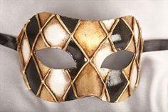 Mens Masquerade Masks - COLOMBINA ROMBI