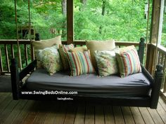 hanging porch beds | Hanging porch bed...love it!! | For the Home