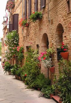 Via dell'amore in Pienza, province of Siena Tuscany Italy