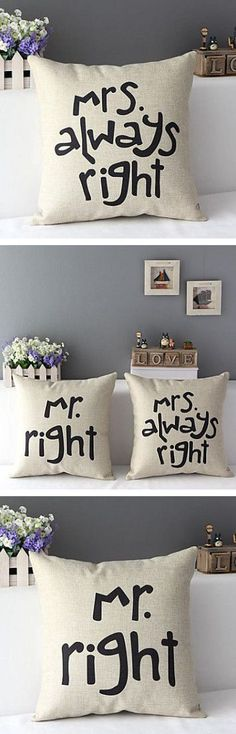 Always Right Throw Pillows ♥ L. may have to personalize that more. Diy Design, Interior Design, Do It Yourself Home, My Room, My Dream Home, Home Projects, Home Accessories, Sweet Home, Design Inspiration