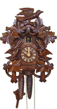 Anton Schneider 1-Day Eight Leaves Three Bird Cuckoo Clock 872-9