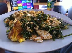 Scrambled Eggs & Greens Scrambled Eggs, Meat, Chicken, Food, Cooking, Essen, Meals, Yemek, Egg Scramble