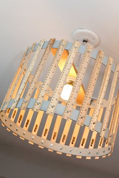 Ruler Drum Light Fixture Boys or Girls Room or Playroom. $170.00, via Etsy.    Such a cool lamp!