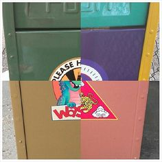 Can you identify the 4 different Walt Disney World trash cans that were used to make this photo?