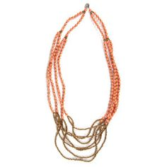 ONE Happy Night Necklace (Peach). This necklace was produced by 31 Bits, a business using fashion and design to empower women to rise above poverty. Their jewelry is made from recycled paper by women in Northern Uganda.
