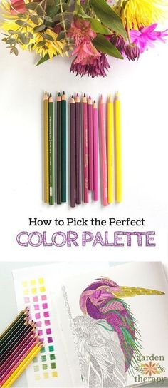 Great adult coloring tips on choosing a color palette! How to color like a pro - tips on choosing a color palette from a designer and artist Coloring Tips, Colouring Pages, Adult Coloring Pages, Free Coloring, Coloring Books, Colored Pencil Tutorial, Colored Pencil Techniques, Art Adulte, Coloring Tutorial