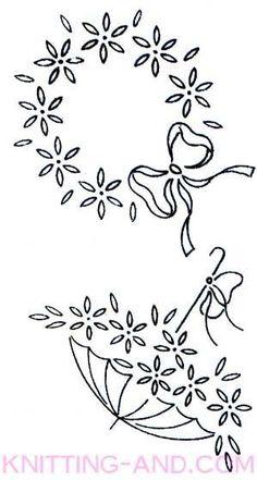 Vintage embroidery patterns around 1940. Daisies #VintageEmbroideryPatterns