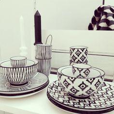 Coup de cœur du jour: l'art de la table Black&White de Monoprix