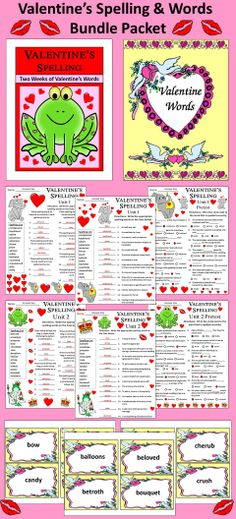 valentine's day spelling words 4th grade