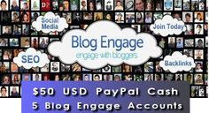 PayPal/Blog Engage Account Giveaway