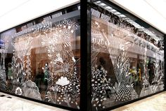 illustrator Aitch Window decoration for Sport/Couture Window Art, Window Film, Window Ideas, Shop Interior Design, Retail Design, Vitrine Design, Decoration Vitrine, Window Graphics, Window Dressings