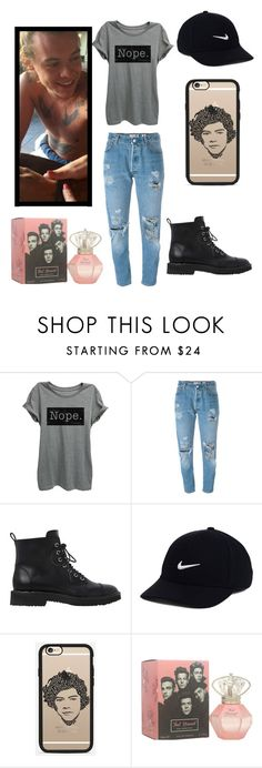 """""""Sem título #83"""" by londero-danielle ❤ liked on Polyvore featuring Levi's, Giuseppe Zanotti, NIKE and Casetify"""