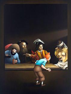 erotiske tintin malerier