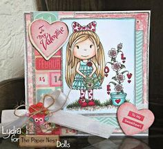 The Paper Nests Dolls new release. Card by Lydia Evans