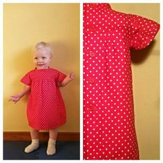 Polka Dot Dress - 18-24 month - inspired by Ottobre Design Magazine Summer 3/15 - made by Agapantha