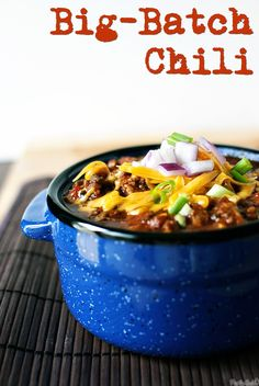 Not yo' momma's slow-cooker big-batch chili. Did I mention it's super easy?