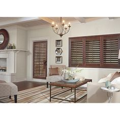 Wood Shutters ❤ liked on Polyvore featuring home, home decor, wood home decor and wooden home decor