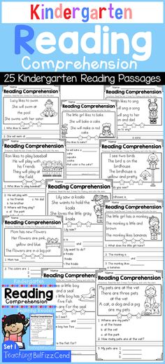 25 Emergent Reading Comprehension For Beginning Readers!