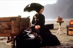 """Anna Paquin & Holly Hunter - """"The Piano""""(1993) - Costume  designer : Janet Patterson"""