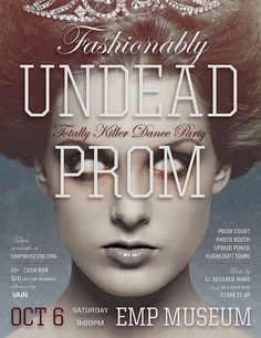 EMP's Fashionably Undead Prom- It's a perfect pre-Halloween - welcome to fall party with spiked punch, costumes