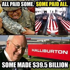 All paid some. Some paid all. Some make $39.5 billion on a company that was almost in bankruptcy prior to the Iraq War.