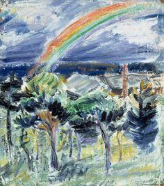 Tyko Sallinen (Finnish, 1879-1955), The Rainbow, 1914. Oil on canvas, 53,00 x 47,00 cm