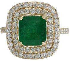 14K Yellow Gold 2.30ctw Emerald & 1.20ctw Diamond Ring Size 7.25. Emerald Jewelry. I'm an affiliate marketer. When you click on a link or buy from the retailer, I earn a commission.