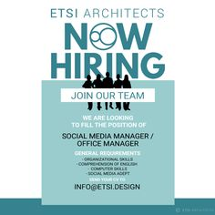 NOW HIRING! Social Media Manager / Office Manager  ΨΑΧΝΟΥΜΕ  ΚΟΣΜΟ! Διαχειριστή Social Media /  Γραφειακής Υποστήριξης Thought Of The Day, Comprehension, Management, Positivity, Social Media, Thoughts, Social Networks, Social Media Tips, Optimism
