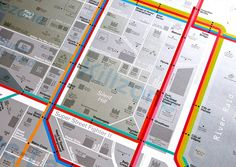 Game Map: A street map made up from the titles of over 500 video games and other references from the history of gaming.