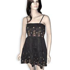 Brown Handmade Cotton Short Dress for Girls