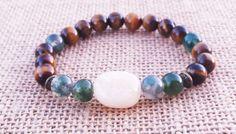 ABUNDANCE Fortune Bracelet Citrine Moss Agate Tiger Eye Bracelet Energy Chakra Bracelet Gift Ideas Christmas Gifts