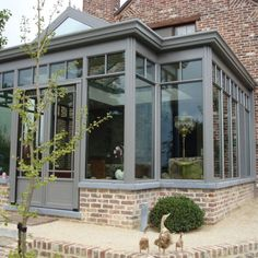 Realisaties – ADR construct - All For Garden House Extension Design, Sunroom Decorating, Cottage Garden Design, French Cottage, House Extensions, Bay Window, Windows And Doors, My House, Orangery Extension