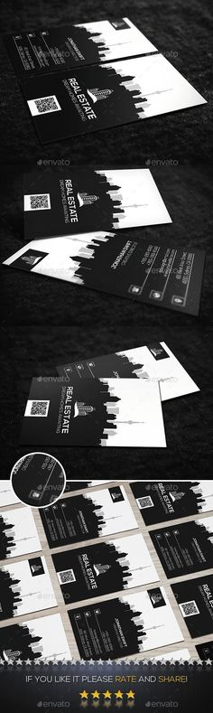 Vertical Real Estate Business Card - Corporate Business Cards