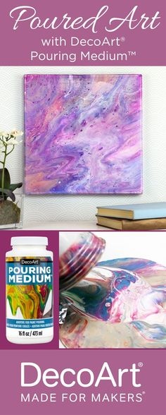 Looking for a new creative outlet? Try paint pouring with DecoArt paint pouring medium!
