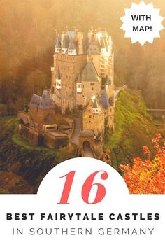 The Best fairytale castles and palaces in Southern Germany. Here's our guide and map to find the best castles and palaces in southern germany, so you can choose which to visit. #castles #germany #wanderingbird #southerngermany #roadtrip #fairytale #castle #palaces #palace
