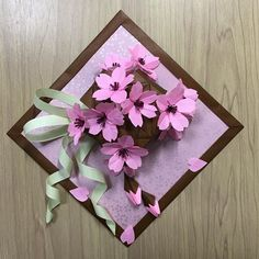 Flower Shadow Box, Christmas Paper Crafts, Origami Easy, Kirigami, Paper Plates, Diy Paper, Cherry Blossom, Paper Flowers, Diy And Crafts