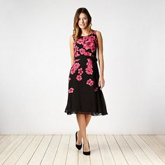 Collection Pink graphic poppy prom dress- at Debenhams.ie