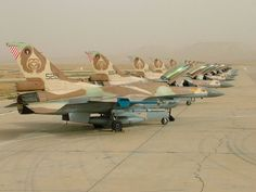 Israeli Air Force F-16C and D Netz (Fighting Falcon).