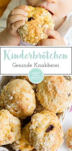 Fancy really delicious and healthy children's buns? Child bread sounds … – Fancy really delicious and healthy children's buns? Clean Eating Recipes, Clean Eating Snacks, Baby Food Recipes, Gourmet Recipes, Baking With Toddlers, Snacks Sains, Baby Snacks, Le Diner, Homemade Baby