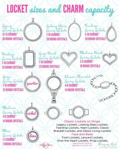 How many charms will fit in my locket?